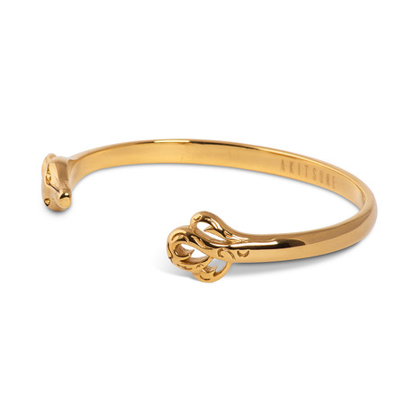 Ferus Bangle Bracelet // Gold Finish (55mm Diameter)