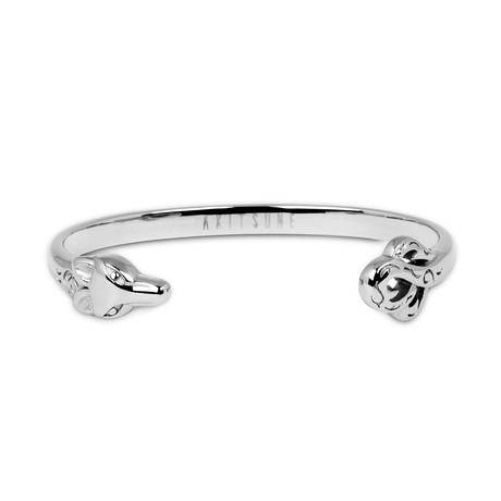 Ferus Bangle Bracelet // Silver (55mm)