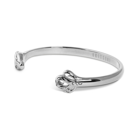 Ferus Bangle Bracelet // Silver Finish (55mm Diameter)