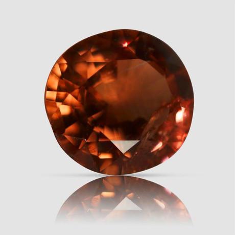 Deep Orange Spinel // Oval Mixed Cut // 2.40 Carats (IGI)