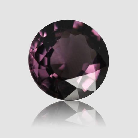 Pinkish Violet Spinel // Round Step Cut // 4.62 Carats (IGI)