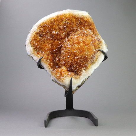 """Citrine Crystals On Metal Stand // 15.5"""""""
