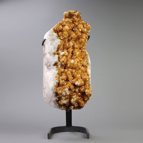 """Citrine Crystals On Metal Stand // 21"""""""
