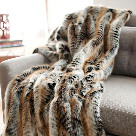 Limited Edition Faux Fur Throw // Lemur