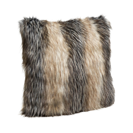 Limited Edition Faux Fur Pillow // Pieced Fox