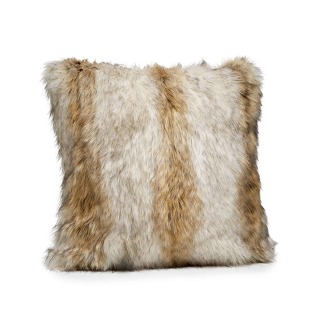 Limited Edition Faux Fur Pillow // Russian Wolf