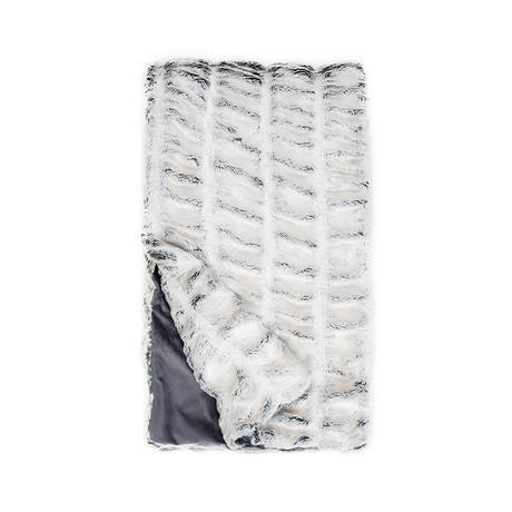 Couture Faux Fur Throw // Iced Grey