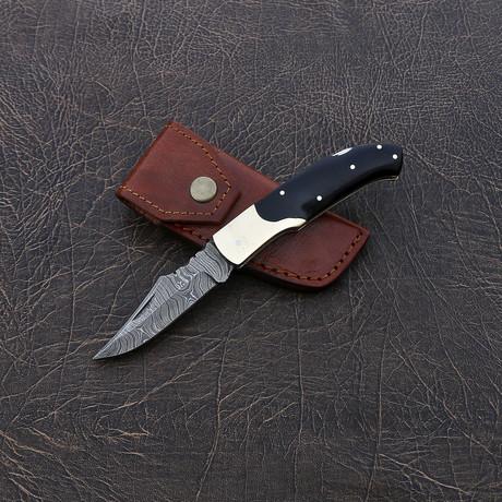 Damascus Pocket Knife // VK251