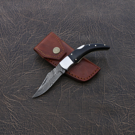 Damascus Pocket Knife // VK253