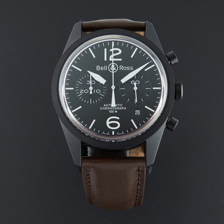 Bell & Ross Vintage Chronograph Automatic // BRV126-BL-CA/SCA // Unworn