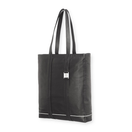 Lineage Leat Bag Tote // Black