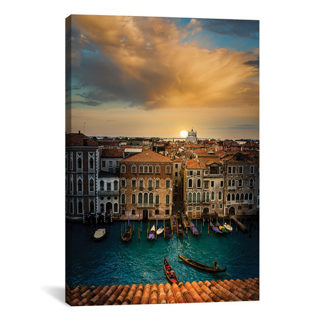 "Sunset In Venice // Enzo Romano (12""W x 18""H x 0.75""D)"