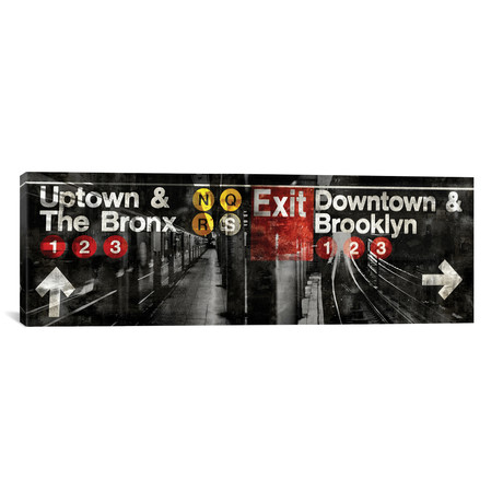 "NYC Subway Station III // Luke Wilson (36""W x 12""H x 0.75""D)"