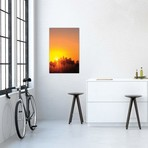 "Downtown Skyline During Sunset, Los Angeles, California, USA // Peter Bennett (12""W x 18""H x 0.75""D)"