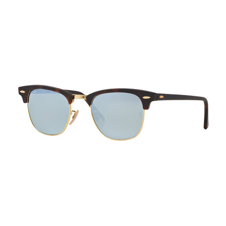 Unisex Clubmaster Sunglasses // Tortoise + Silver Flash