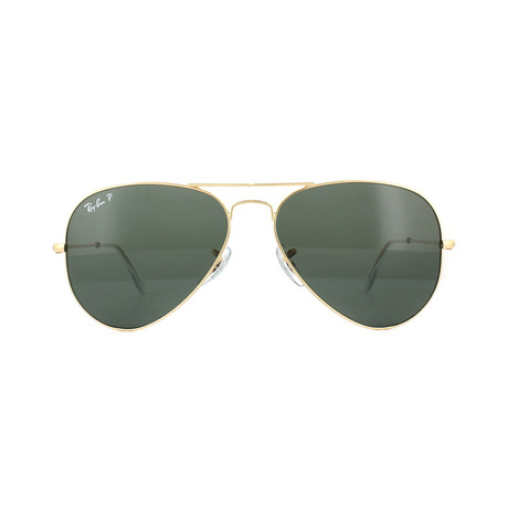 Ray-Ban // Unisex Aviator Large Metal Sunglasses // Gold