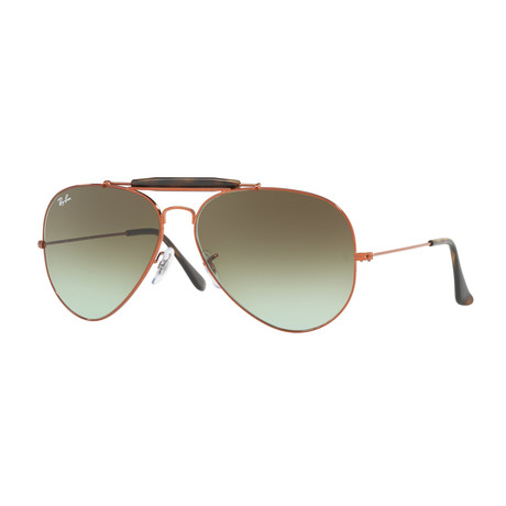 Outdoorsman 11 Sunglasses // Bronze + Green Gradient Brown
