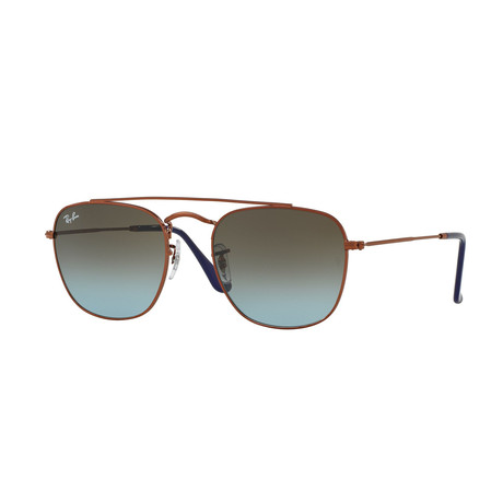Ray-Ban // Metal Pilot Sunglasses // Bronze Copper + Blue Brown Gradient