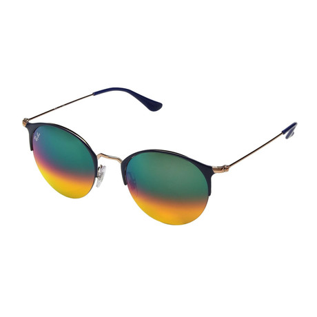 Ray-Ban // Metal Sunglasses // Black + Blue + Violet Gradient Mirror