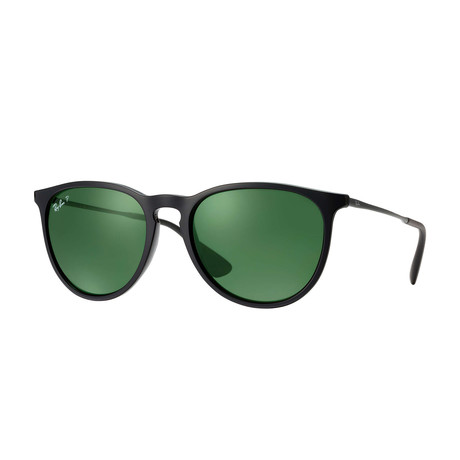 Women's Polarized Erika Classic Sunglasses // Black + Green Classic