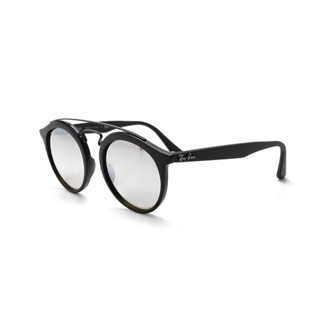 Gatsby I Sunglasses // Black + Silver Gradient Flash