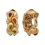 Vintage Chopard 18k Yellow Gold Diamond Casmyr Earrings