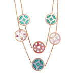 Vintage Ippolita 18k Yellow Gold Rock Candy Turquoise Isola Station Necklace