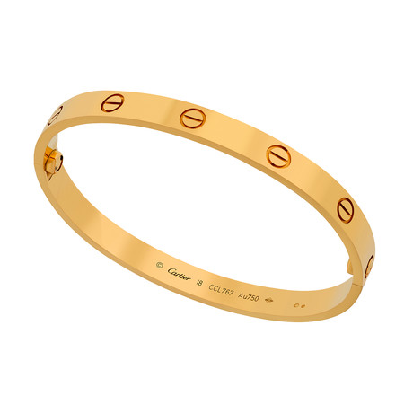 Vintage Cartier 18k Rose Gold Love Bracelet