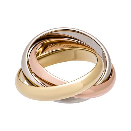 Vintage Cartier 18k Three-Tone Trinity Ring (Ring Size: 5.75)