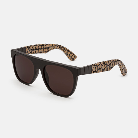 Flat Top Gianni Pompei Sunglasses // Black