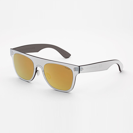 Duo Lens Flat Top // Gold Silver
