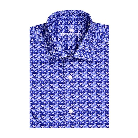 Graphic Poplin Print Short Sleeve Shirt // White (XS)