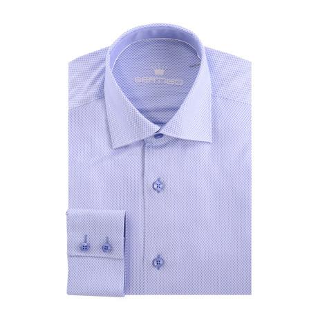 Classic Formal Dobby Long Sleeve Shirt // Blue (XS)