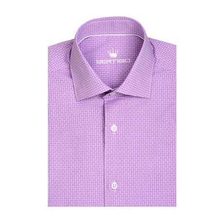 Classic Small Diamond Dobby Short Sleeve Shirt // White (XS)