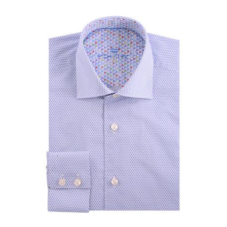 Bullseye Poplin Print Long Sleeve Shirt // White (XS)