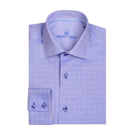 Small Boe Cotton Long Sleeve Shirt // Blue (XS)