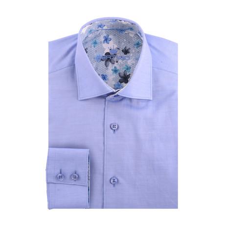 Solid Long Sleeve Shirt // Blue (XS)