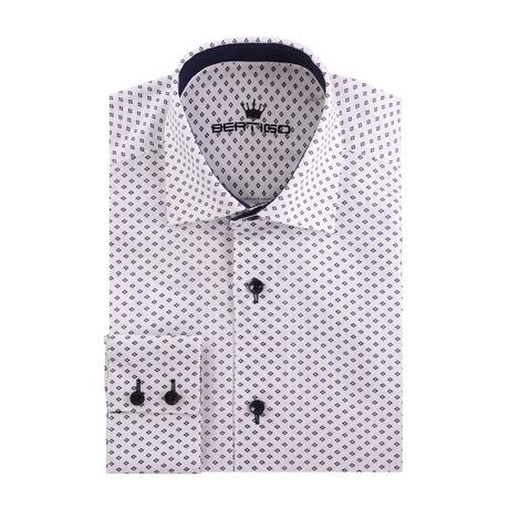 Small Diamond Oxford Long Sleeve Shirt // White (XS)