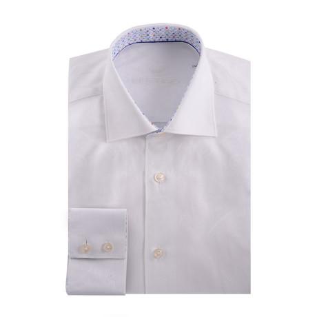 Paisley Long Sleeve Shirt // White (XS)
