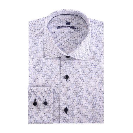 Glasses Poplin Print Long Sleeve Shirt // White (XS)