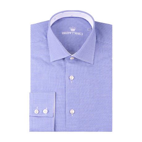 Square Classic Dobby Long Sleeve Shirt // Navy Blue (XS)