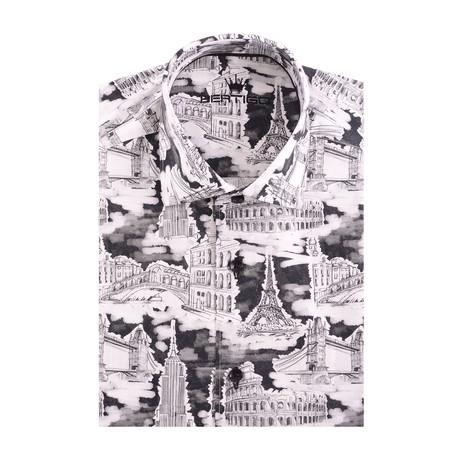 City Tour Poplin Print Long Sleeve Shirt // Black (XS)