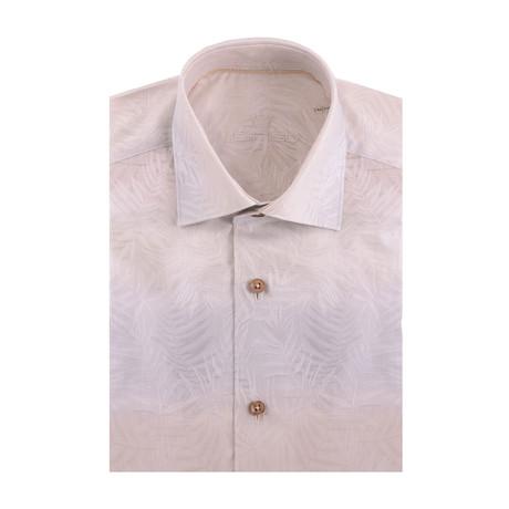 Gradient Fade Short Sleeve Shirt // Beige, Blue (XS)