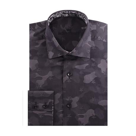 Camo Long Sleeve Shirt // Black (XS)