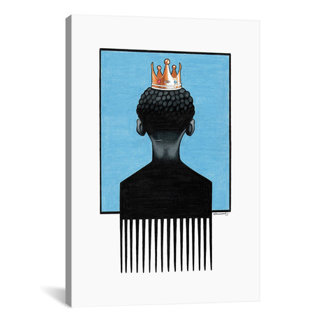 """Little Prince Afropick by Manasseh Johnson (18""""W x 26""""H x 0.75""""D)"""