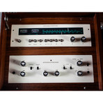 Stereotronic Hifi Teak Stereo Console with Tube Amp Record Player