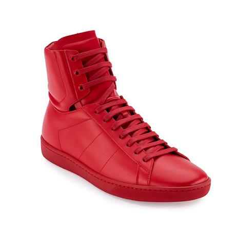 Saint Laurent // Men's Hi-Top Sneakers // Red (Euro: 40)
