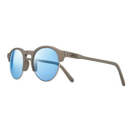 Unisex Reign Polarized Sunglasses // Matte Pewter + Blue Water