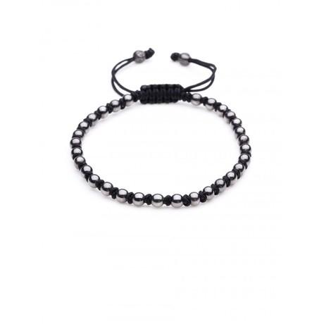 Special Macrame Bracelet (Black, Gunmetal)