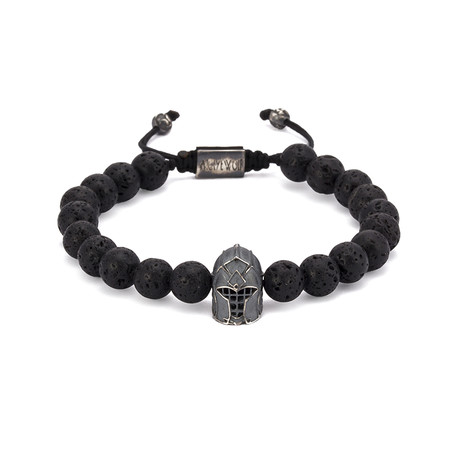 Lava Gladiator String Bracelet // Black Oxide